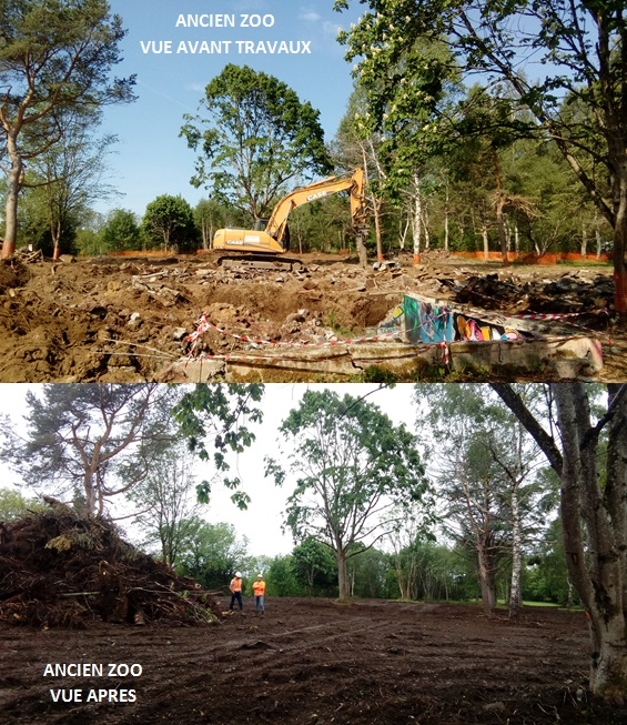 Restoration of the former Orcines zoo, at the foot of the Puy de Dôme (before and after)